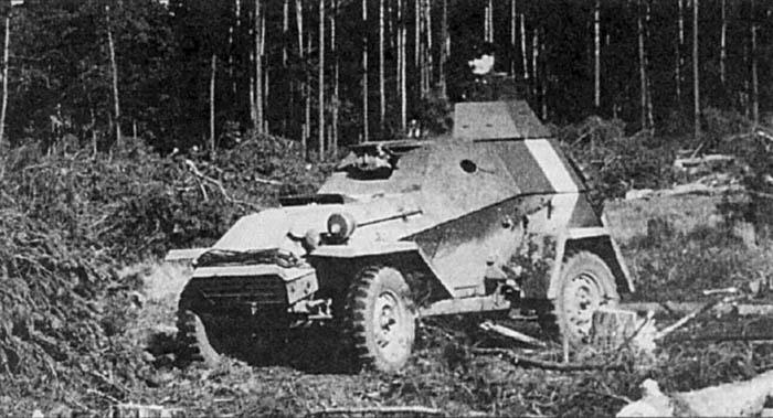 БА-64 в полевых условиях