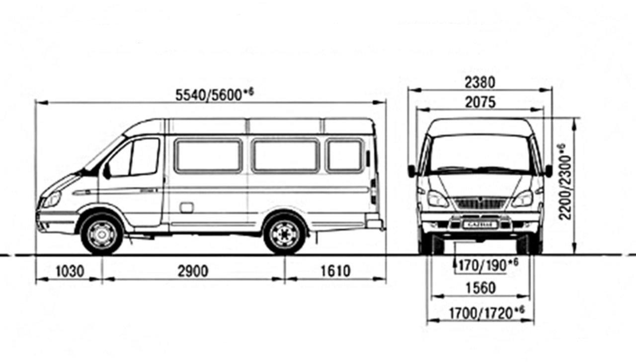 Чертёж ГАЗ-3221