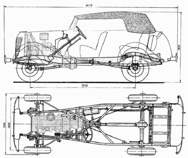 Чертеж ГАЗ-61