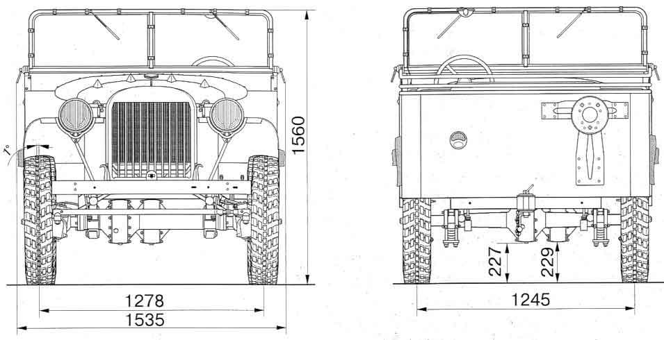 Чертёж ГАЗ-64