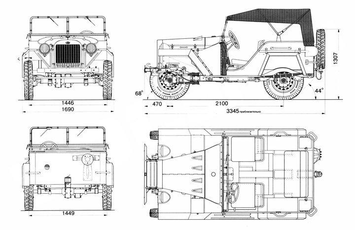 Чертёж ГАЗ-67