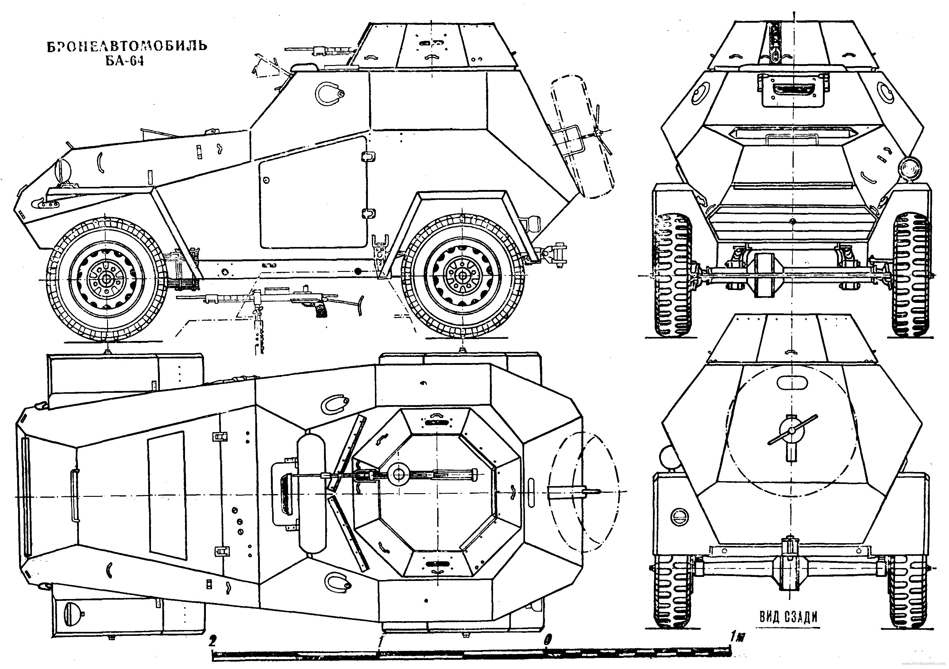 Схема БА-64