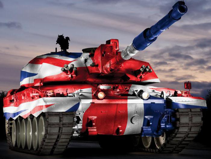 Челенджер-2, раскрашенный в цвета Британского флага