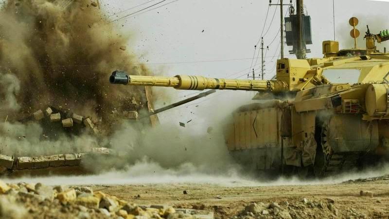 Челленджер-2 при штурме города