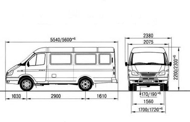 Чертёж ГАЗ-2705