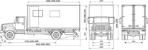 Чертёж ГАЗ-3309