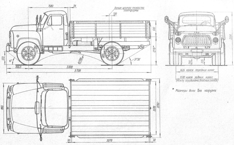 Чертёж ГАЗ-52