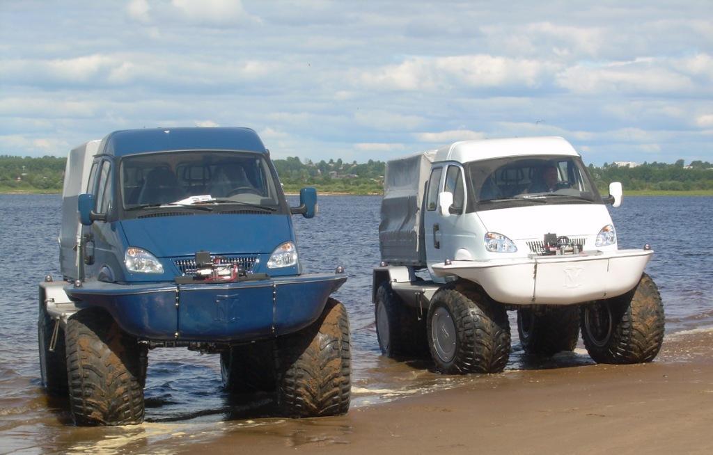 ГАЗ-3302 с большими колёсами