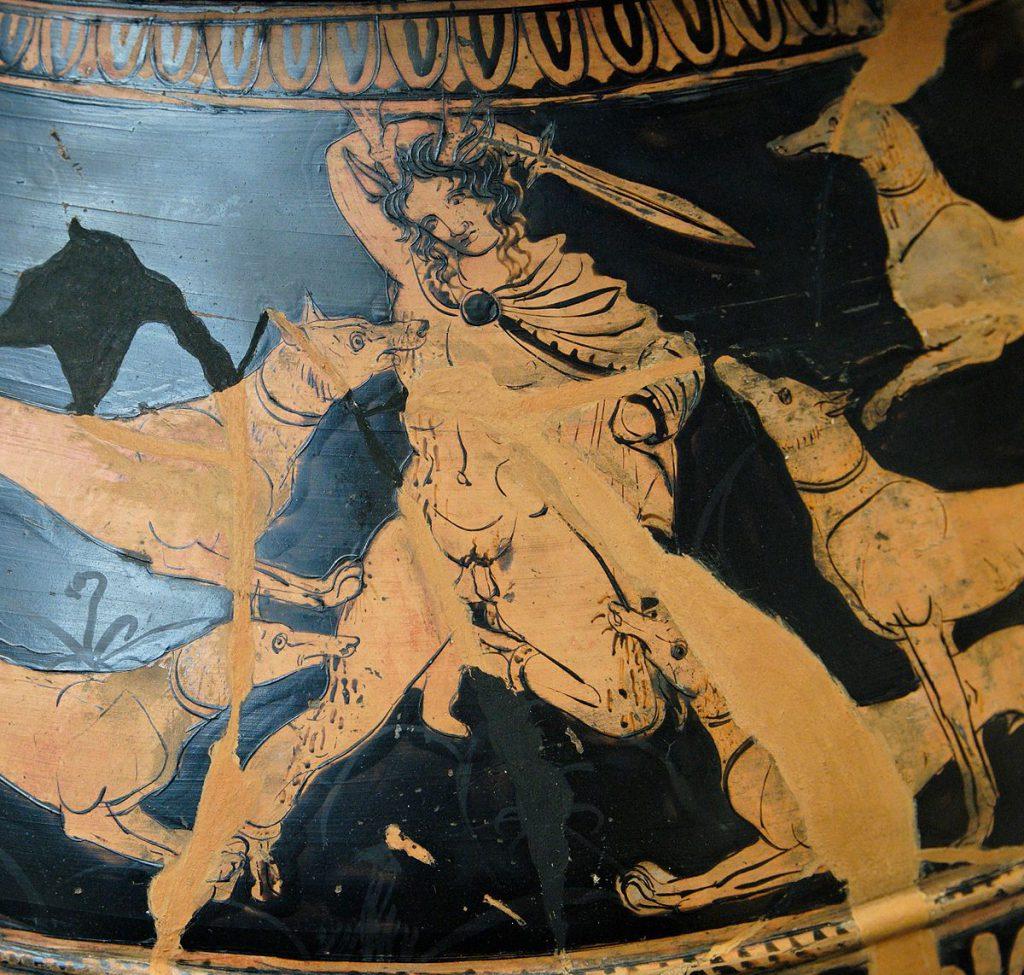 Античное изображение воина с мечом