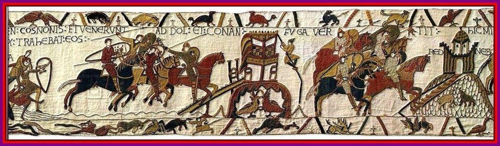 Изображение боя на средневековой гравюре