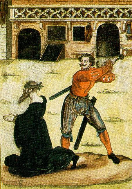 Обезглавливание мечом