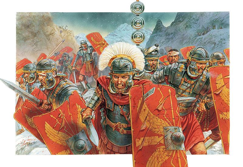 Римские легионеры с гладиусами