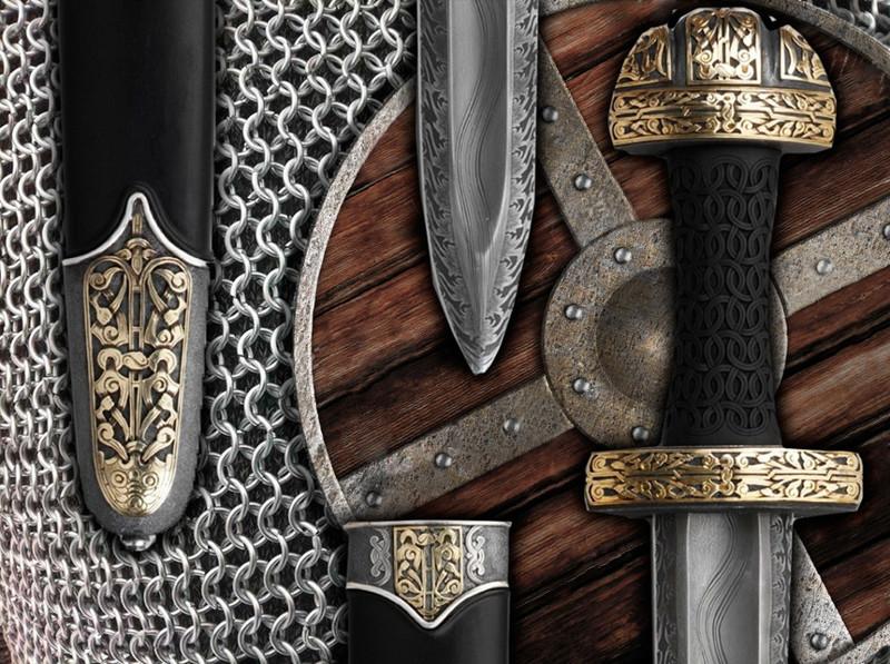 Рыцарское снаряжение: меч, щит и кольчуга