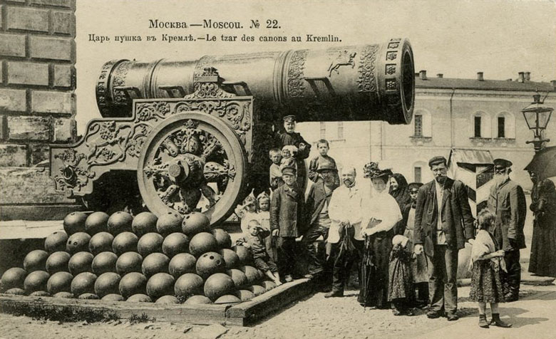 Гравюра с изображением Царь-пушки