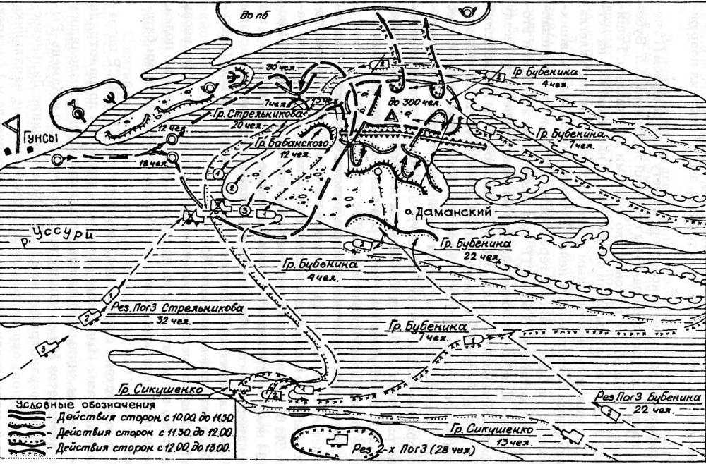 Карта боёв