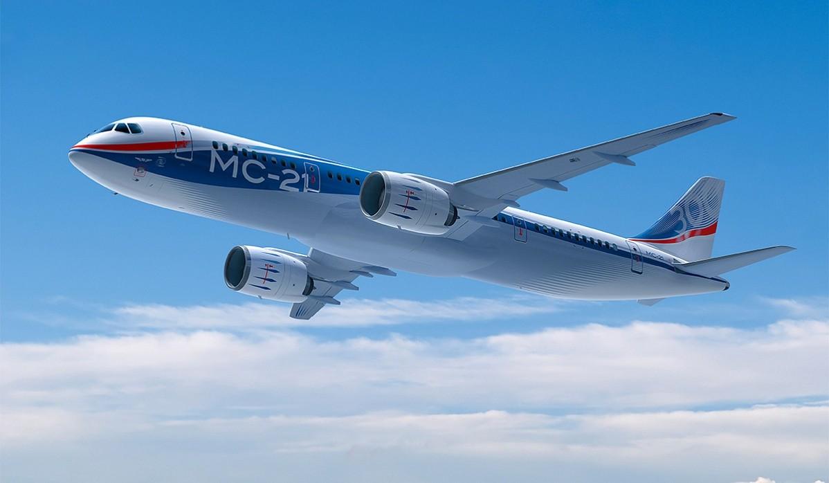 МС-21 совершает полет