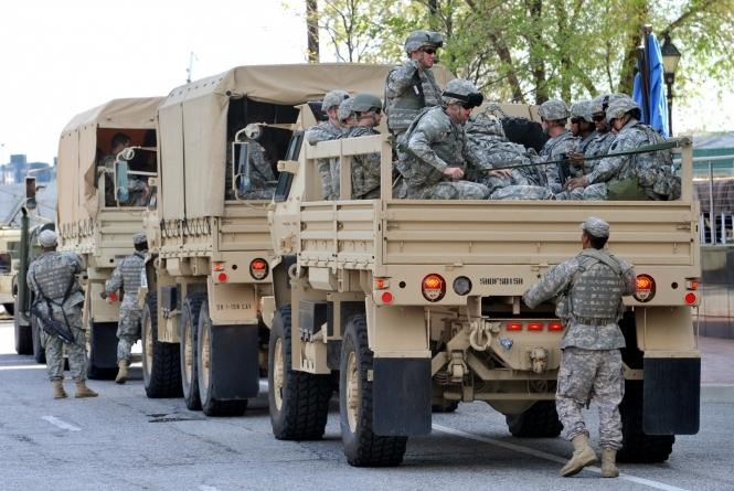Перевозка солдат к месту дислокации