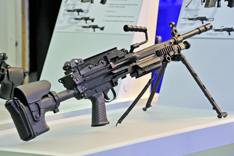 Пулемет на стенде