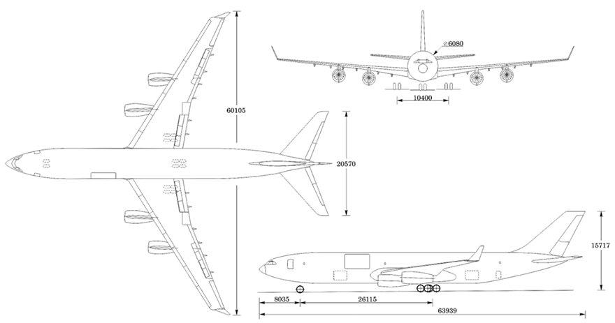 Размеры самолета ИЛ-96