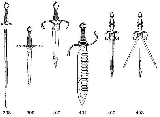 Разновидности клинков