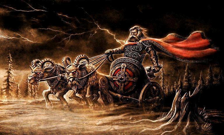 Скандинавская гравюра - Тор с молотом