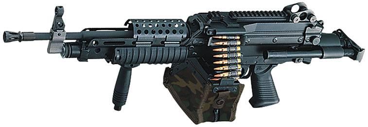 Снаряженный пулемет FN Minimi