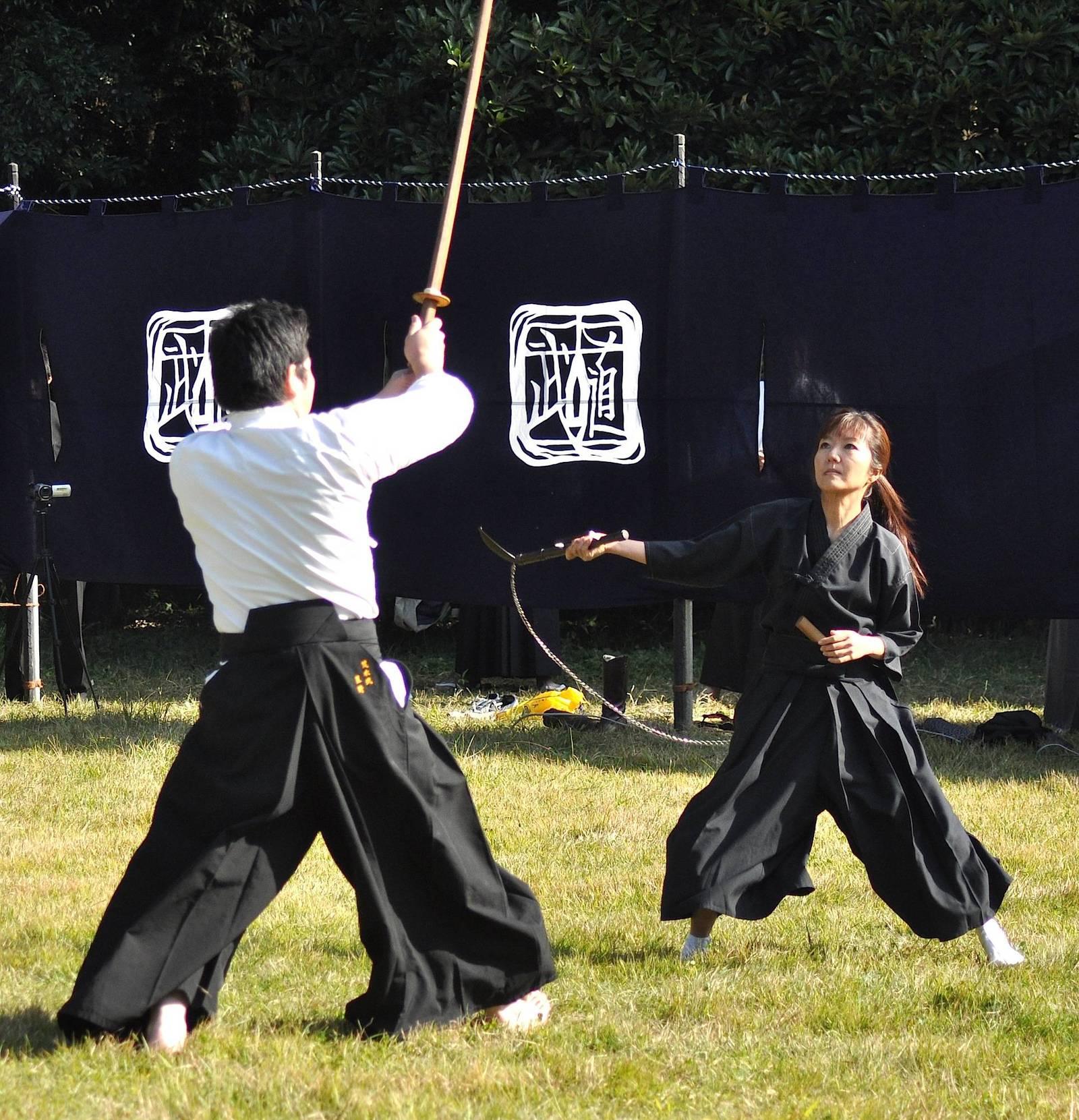 Тренировочный бой: меч против кусаригамы