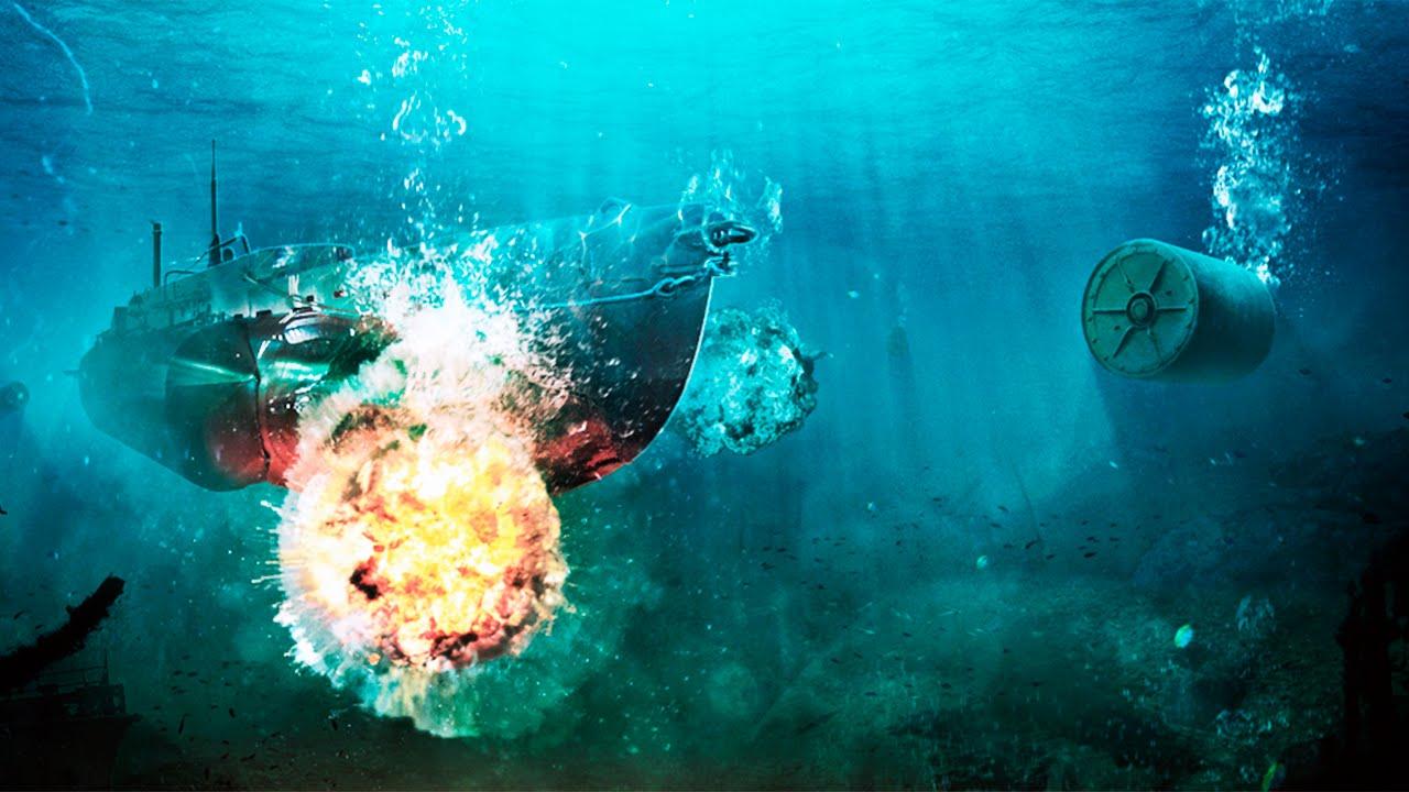Взрыв глубинной бомбы