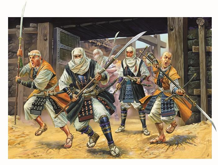 Японские воины с нагинатами