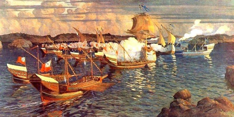 Десантные корабли времен Северной войны