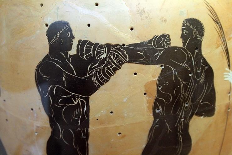 Древняя гравюра - кулачный бой