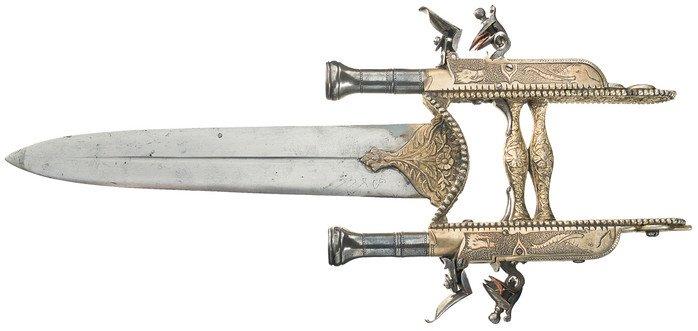 Катар, совмещенный с двумя пистолетами