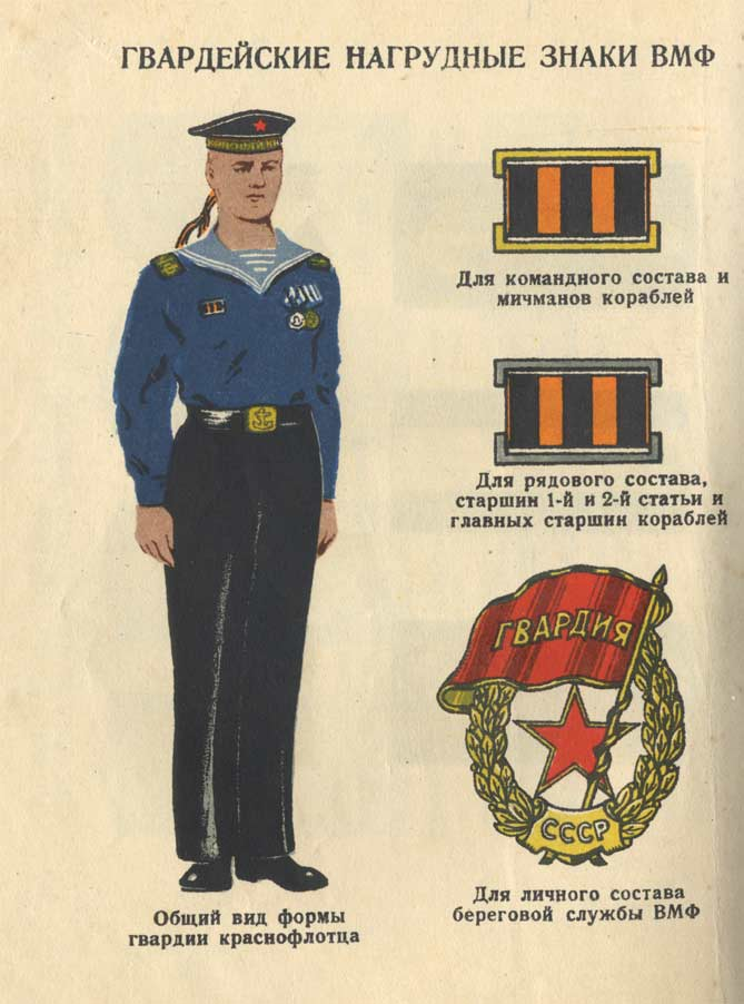 Нагрудные знаки российского флота