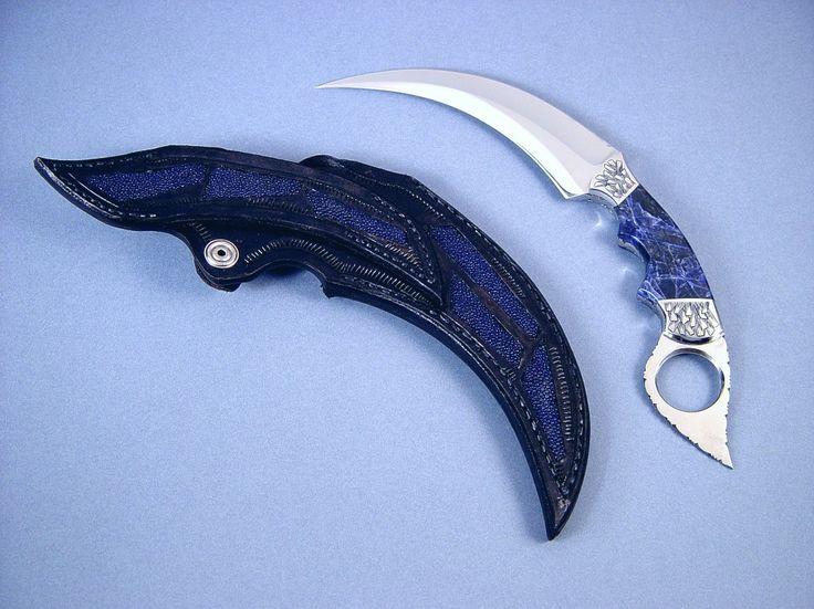 Нож керамбит с изящной рукоятью