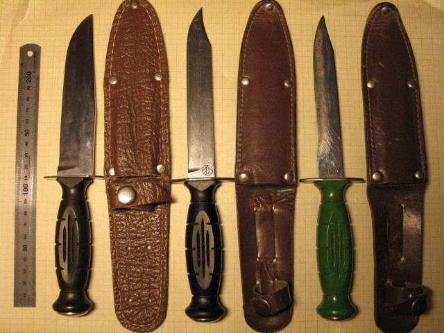 Ножи, используемые разведчиками, в 1943 году