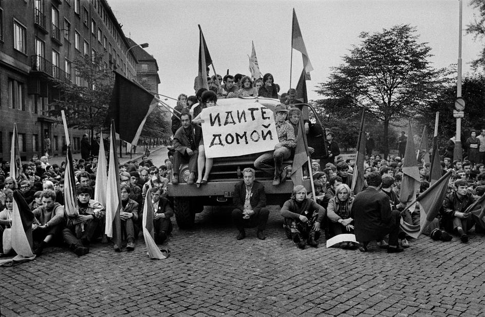 Протесты в Чехословакии