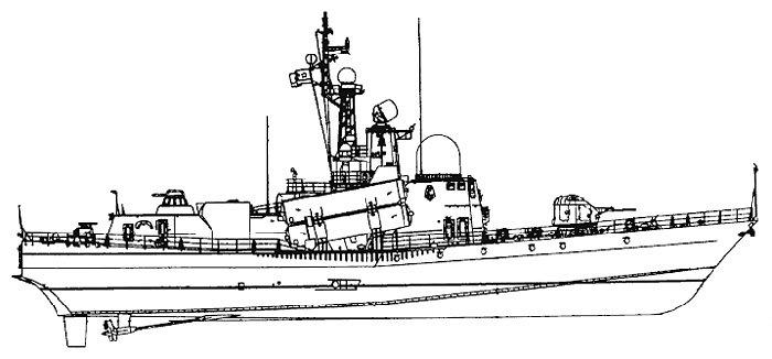 Схема катера проекта 1241