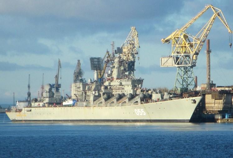 Спуск крейсера на воду