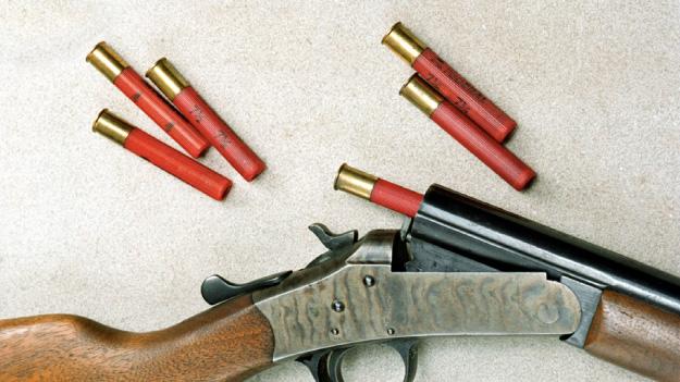 Старинные ружье и патроны