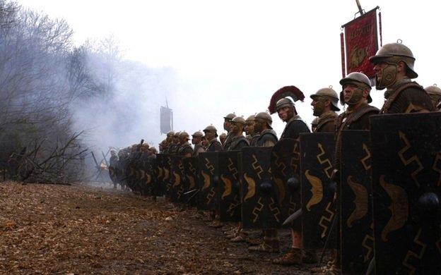 Строй легионеров перед боем