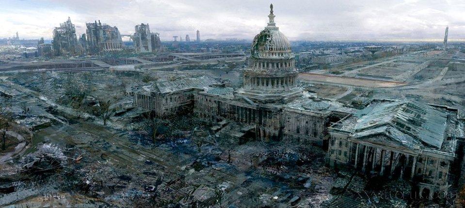 Вашингтон после артобстрела