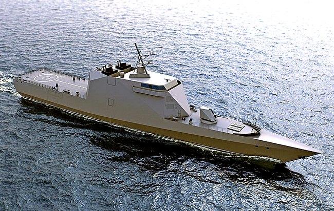 Военный корабль на страже российских границ