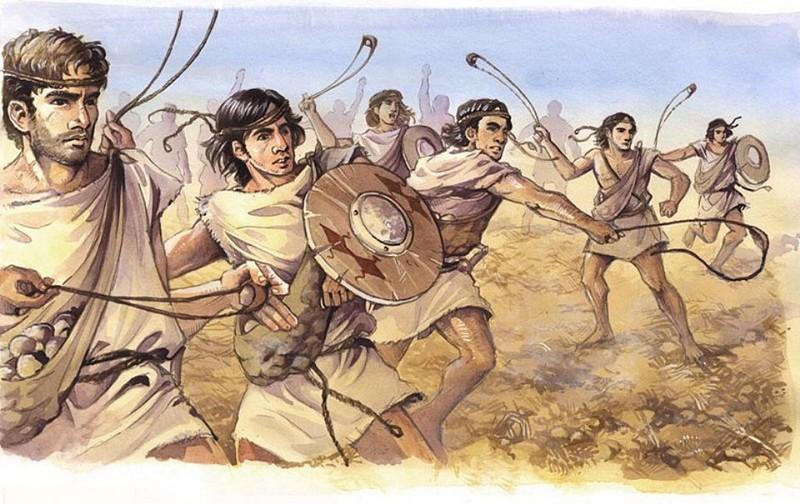 Воины с пращами