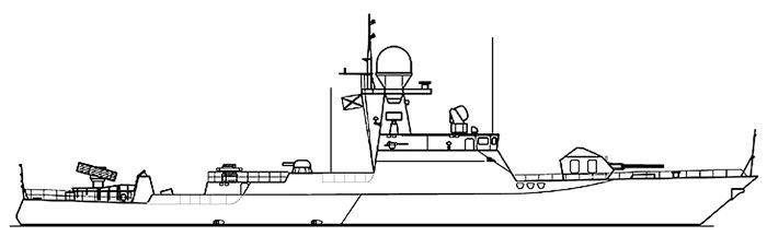 Чертеж кораблей проекта 21630