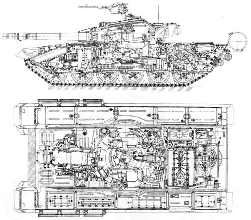 Чертеж Т-90МС