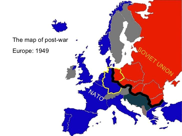 Карта НАТО 1949 год