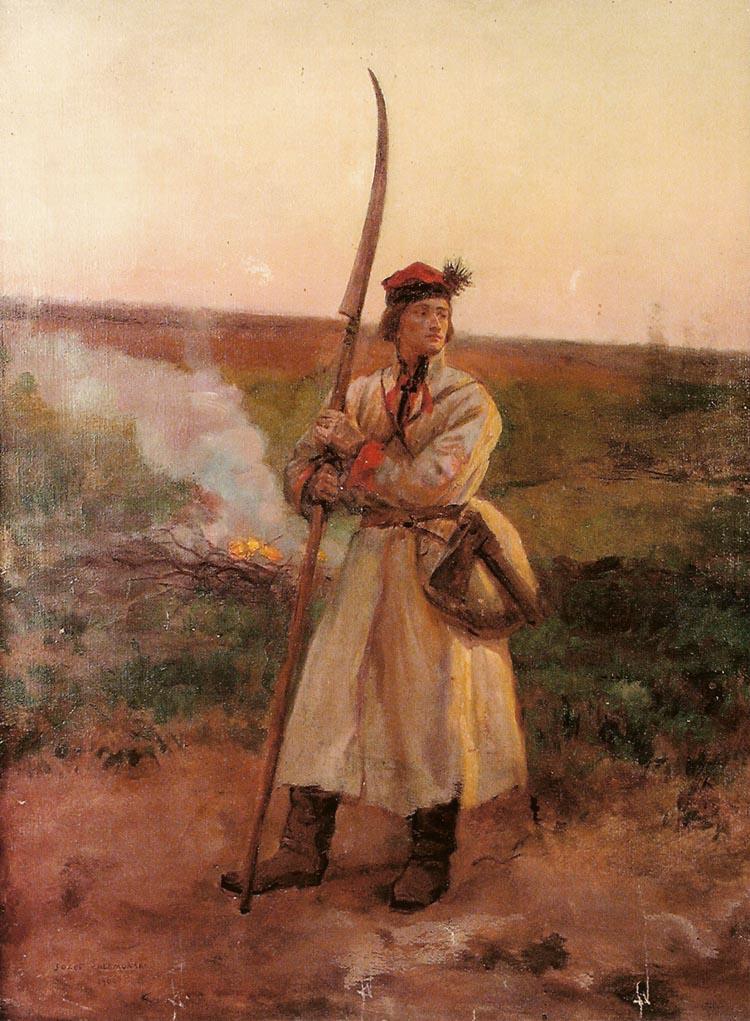 Крестьянин с боевой косой
