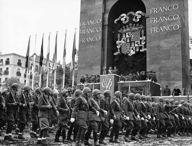 Парад победы в Мадриде Франко