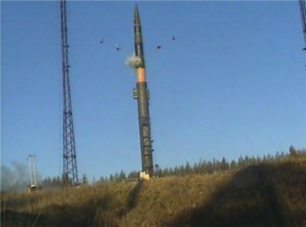 Процесс запуска межконтинентальной ракеты