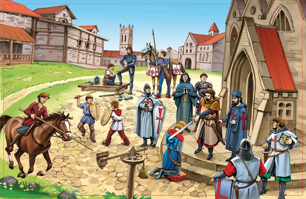 Рыцари перед походом